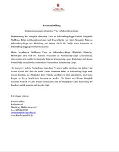 Distanzierung gegen Alexander Prinz zu Schaumburg-Lippe