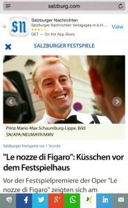 Prince Mario Max Schaumburg-Lippe Press Coverage 2015