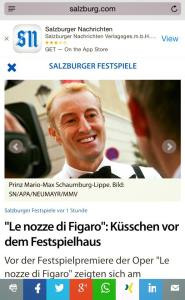 Prince Mario Max Schaumburg-Lippe Press Coverage 2015