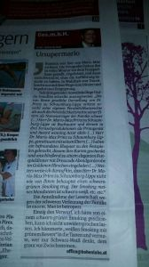 Karl Hohenlohe, Kurier Tageszeitung, GesMBH Kolumne Gegendarstellung Dr. Mario-Max Prinz zu Schaumburg-Lippe