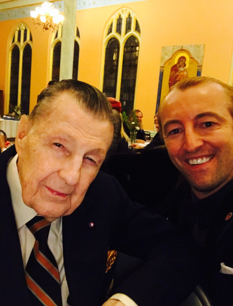 Prince Mario-Max Schaumburg-Lippe meets Prince Ivan Obolensky, the grandson of Jacob Astor (Titanic)